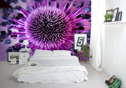 Purple flower close up wall mural